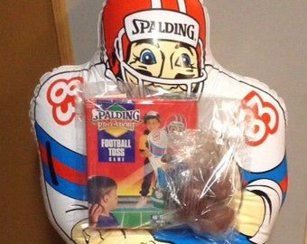 Vintage Spalding Inflatable Football Toss