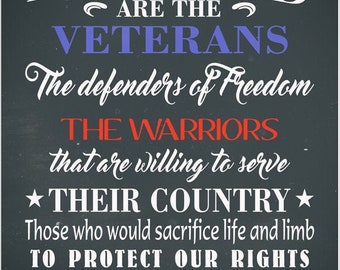 Blessed are the Veterans