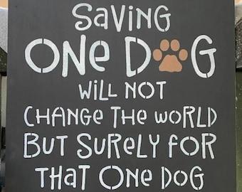 saving One Dog