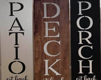 """Welcome to our Porch/Patio/Deck - 10"""" x 36"""""""