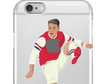 2fc4f07ae Mesut Ozil Arsenal Football Soccer Phone Cover Case For iPhone 5 5c 6 7 8 X  or Samsung Galaxy J3 2017 J5 2017 S7 S8 S9