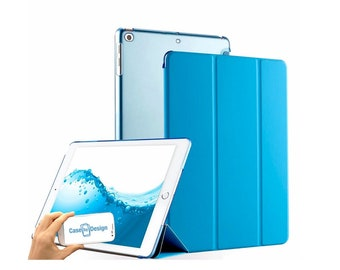 74e37de9eb4 Blue Smart Apple iPad case cover Stand & Magnetic close pu Leather for All  Models