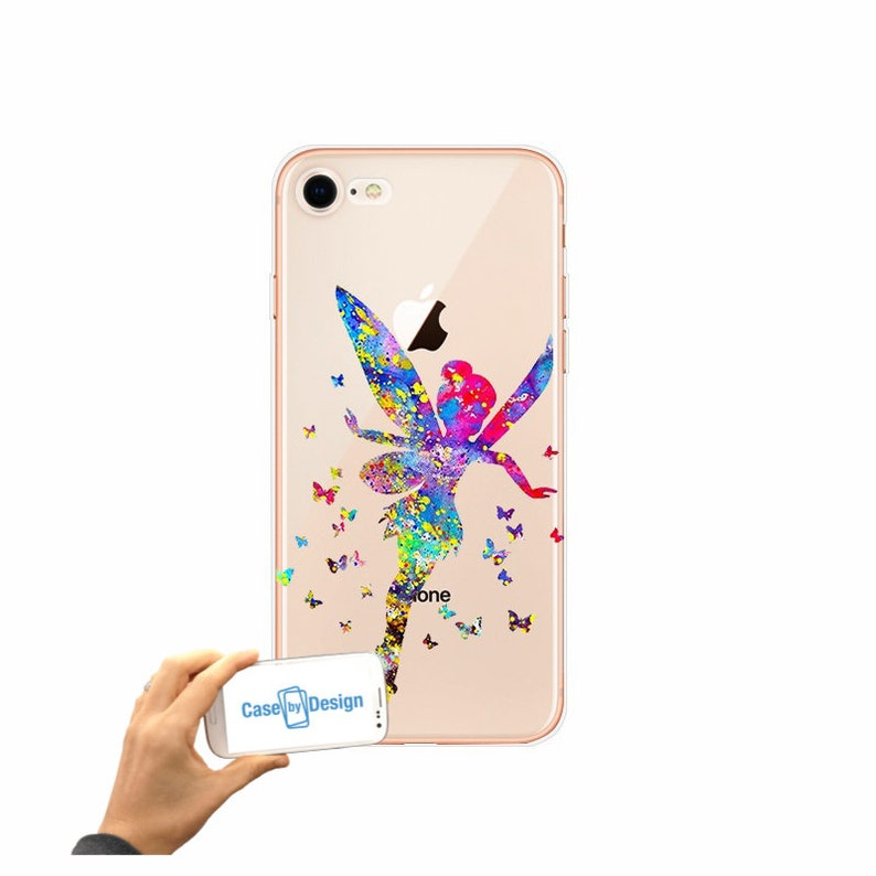 online store dd914 ed187 Tinkerbell Disney Watercolour mobile phone case for iPhone 5 5c 6 7 8 X or  Samsung Galaxy J3 2017 J5 2017 S7 S8 S9