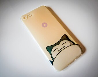 Snorlax Fashion Pokemon GO Foam Phone Back Case Cover For iPhone 5 5S SE 6 6+ 7 7+ X