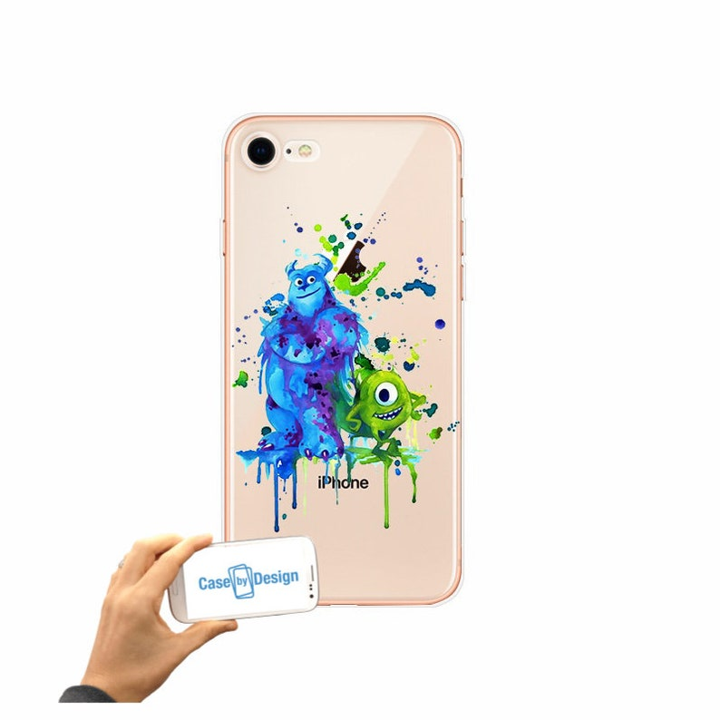 Monsters inc Disney Watercolour mobile phone case for iPhone 5 5c 6 7 8 X  or Samsung Galaxy J3 2017 J5 2017 S7 S8 S9
