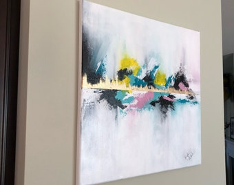 Hand painted Abstract acrylic canvas painting