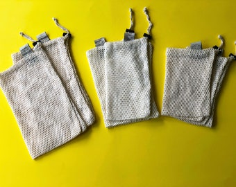 100%... Reusable Mesh Bags with Drawstring Irich 25 Pack Cotton Muslin Bags