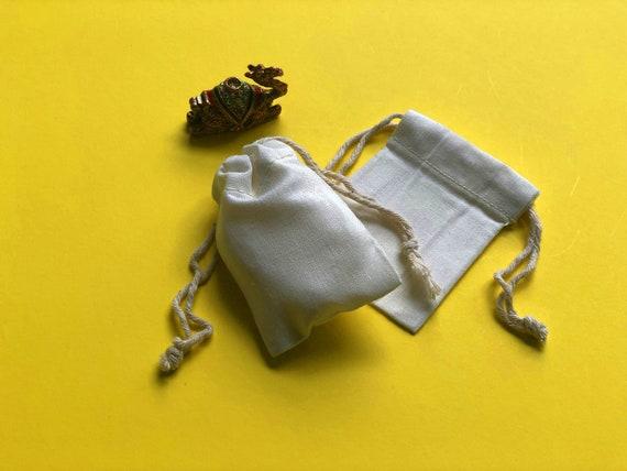 Double Drawstring Style 10 pcs of 2 x 3  SOFT Premium Muslin Bags 2x3 Muslin Bags