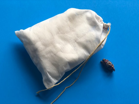 100pcs 3.25x5 WHITE Muslin Drawstring Bag Bleach White Muslin Bags Wedding Favor Single DRAWSTRING