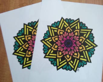 Colorful Mandala Print