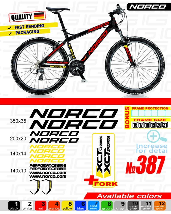 Norco Bicycle Frame Decal Sticker Set MTB//Road Bike