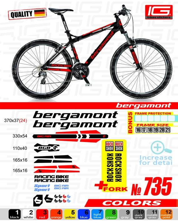 Rock Shox 30 2018 Fork Decal Mountain Bike Cycling Sticker Adhesive Red