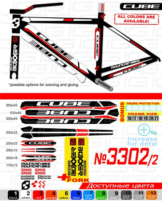 Bike Frame sticker CUBE MTB cycling Bicycle decal Road bike accessories stickers