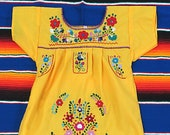 Girl 39 s Mexican Dress Puebla Canary