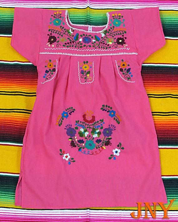 Hot Pink-Greens Puebla Dress OAK