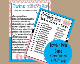 Twin Shower Game Etsy