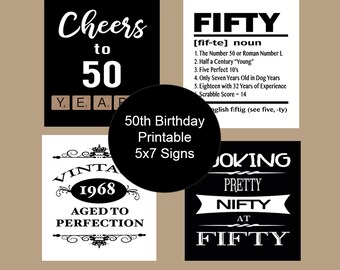 picture relating to 40th Birthday Signs Printable known as 50th birthday indications printable -