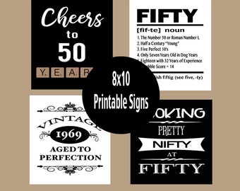 graphic relating to Free Printable 50th Birthday Signs titled 50th birthday social gathering Etsy