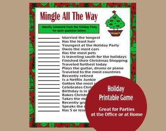 holiday game office holiday game adult holiday game christmas game ugly sweater party game mingle game home party game printable