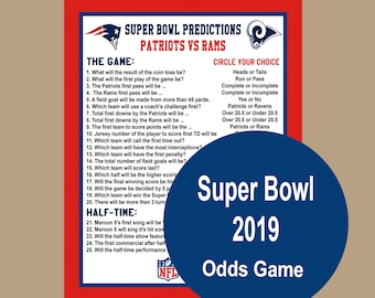 photo about Printable Super Bowl Prop Bets titled Tremendous bowl favors Etsy