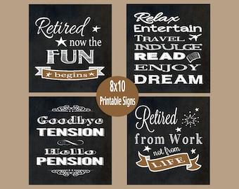 printable retirement etsy