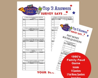 picture relating to Family Feud Questions and Answers Printable identified as Birthday Relatives Feud Activity Household Feud Sport Birthday Trivia