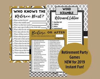 picture about Retirement Party Games Free Printable named Retirement celebration Etsy