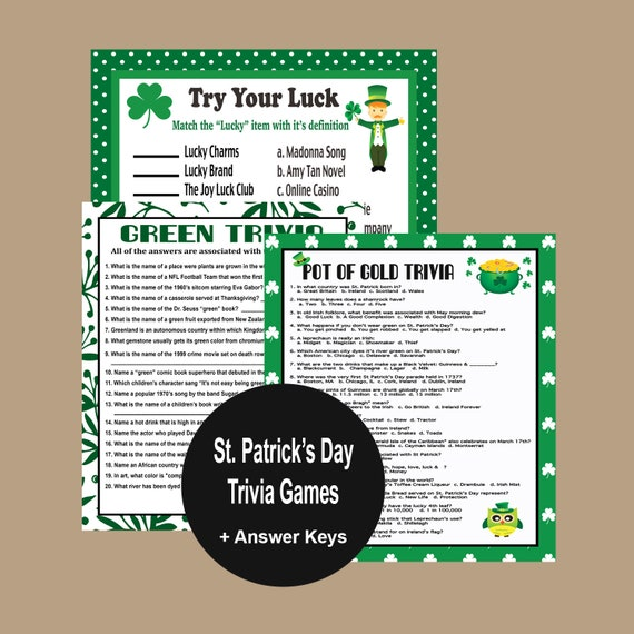 picture relating to St Patrick Day Trivia Questions and Answers Printable identify St Patricks Working day Trivia Video games, St Patricks Working day Celebration Video games, Environmentally friendly Trivia, Luck Trivia, Grownup Occasion Game titles, Irish Online games, Fast Down load