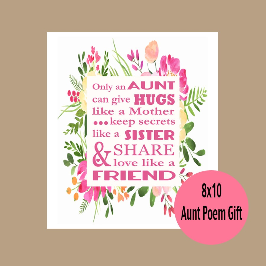 Aunt Gift Auntie Gift Aunt Birthday Gift Aunt Mother\'s   Etsy