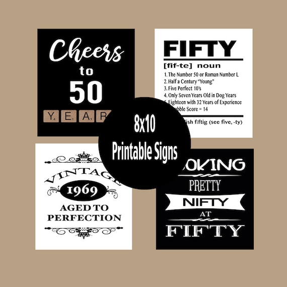 picture regarding 50th Birthday Signs Printable named 50th Birthday Bash Decorations, 50th Birthday Decor, 50th Birthday Posters, 1969 Birthday, Cheers in direction of 50 Decades, Fast Obtain