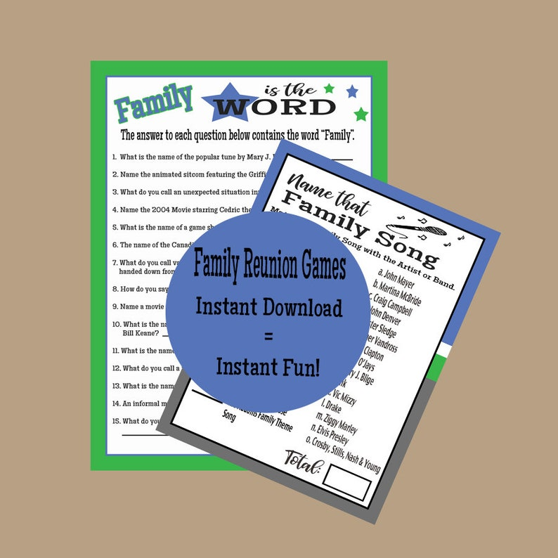 image regarding Printable Family Reunion Games named Family members Reunion Online games, Family members Reunion Guidelines, Tunes Trivia Sport, Trivia Online games, Guessing Online games, Printable Activity, Fast Obtain
