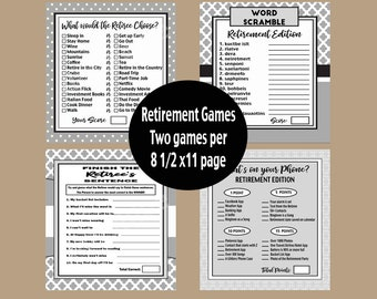Retirement Party Games, Retirement Party, Retirement Prints, Retirement,  What's on your phone, Word Scramble, Retiree,  Instant Download