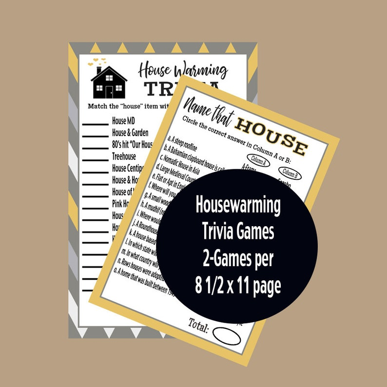 picture about Housewarming Games Printable identify Housewarming Social gathering Video games, Housewarming Celebration, Housewarming Trivia, Fresh new Household Trivia Video game, Grownup Occasion Game titles, Printable Activity, Prompt Down load