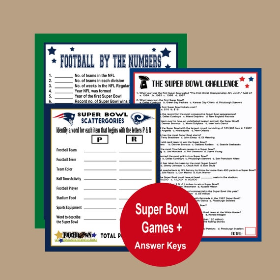 photo about Super Bowl Party Games Printable known as Tremendous Bowl 2019 Online games, Soccer Trivia, Tremendous Bowl Celebration Trivia, Tremendous Bowl Scattegories, Tremendous Bowl 53 Printable Game titles, Immediate Obtain