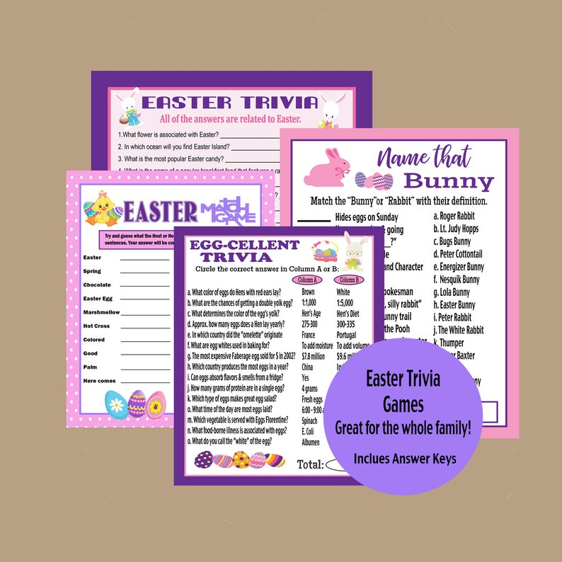 photograph about Printable Family Games referred to as Easter Printable Bash Online games, Easter Relatives Game titles, Icebreaker Video games, Easter Trivia Match, Grownup Celebration Video games, Activity Online games, Prompt Down load