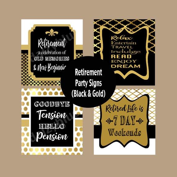 retirement party posters retirement decor retirement print etsy