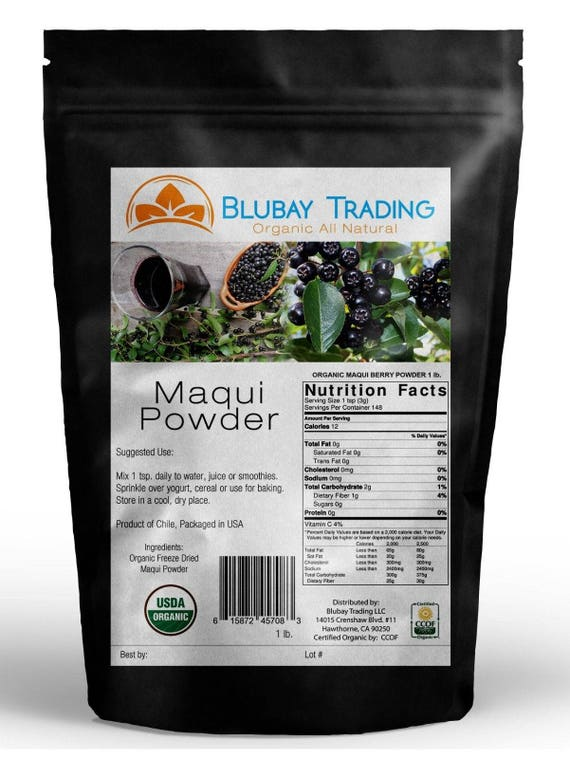 Maqui Berry Powder Organic Freeze Dried Bulk Wholesale 1 Lb Etsy