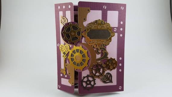 Steampunk Valentine's Card