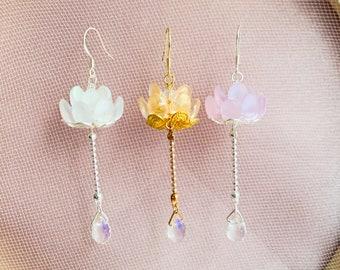 Everything Zen Earrings  Yoga Earrings  Bohemian Earrings  Celestial Earrings  Sun Moon Stars  Meditation  Modern Earrings  Crystal