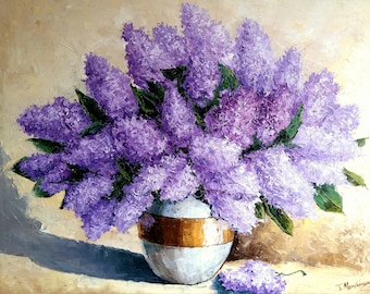 Lilacs   60x80cm  oil on canvas