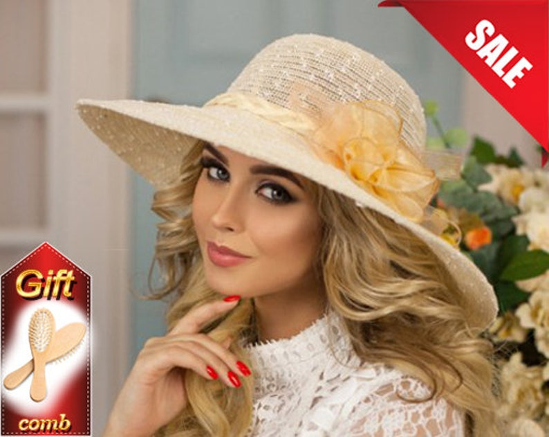 4d00a864a5f2e Floppy beach hat Straw hat Summer hat Sombrero hat Hat with