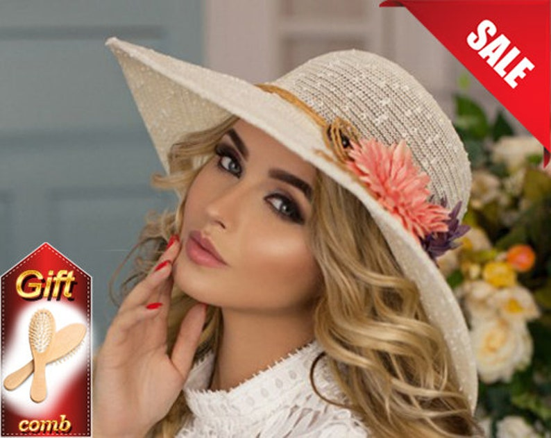b0883f86f3a38 Traditional hat Hat with flower Sunshine bachelorette