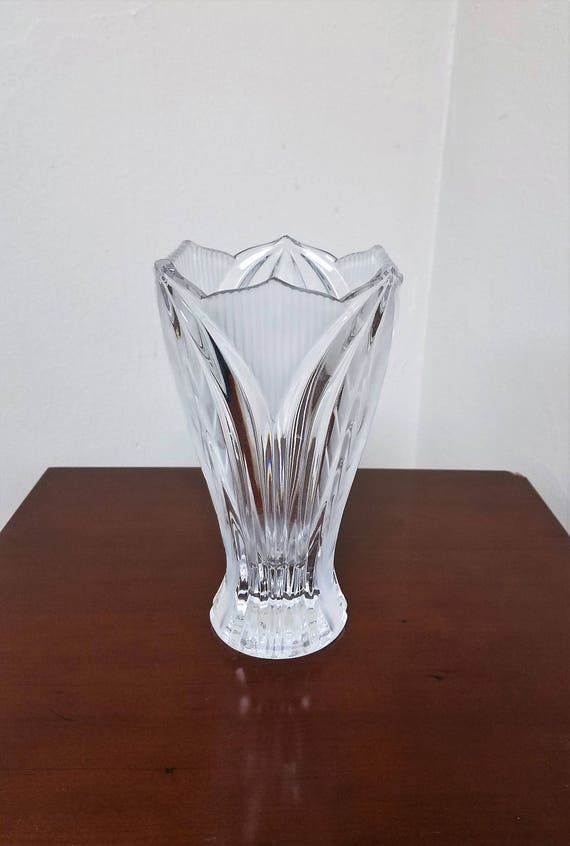 Vintage German Crystal Vase A Beautiful Touch Of Inspired Etsy