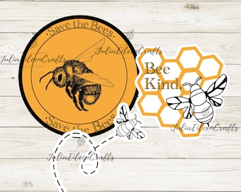 Save The Bees Sticker Pack of 3