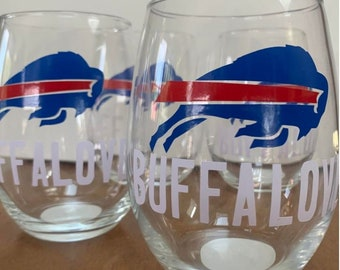 "Buffalo Bills ""Buffalove"" Short Stem Wine Glass"