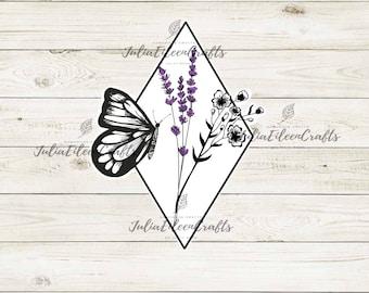 Butterfly Flower Sticker