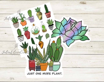 Plant/ Succulent Sticker Pack of 3