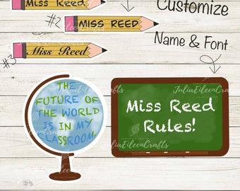 Customizable Teacher Sticker Pack