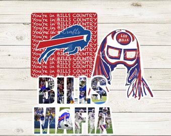 Buffalo Bills Sticker Pack of 3