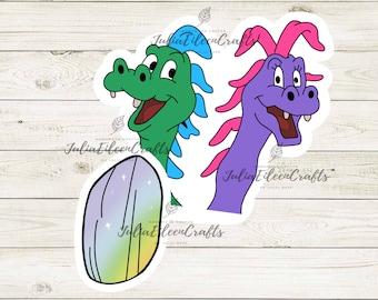 Dragon Tails Nostalgic inspired Sticker Pack of 2